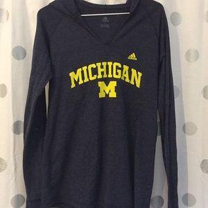 University of Michigan hooded Tee